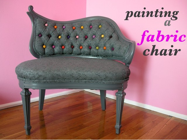 Painting a Fabric Chair  Emmalee Shallenberger Graphic