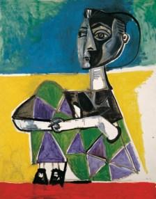 Jacquelin sentada 1952 m. Picasso Málaga