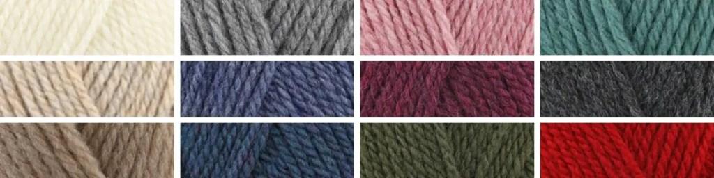 Stylecraft life chunky yarn colours