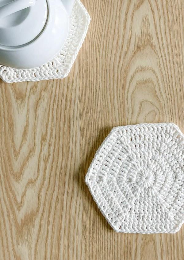 Cotton Hexagon Crochet Table Mats