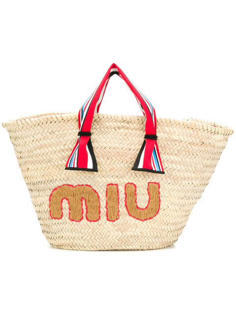 Panier strawbag miumiu - The Straw Bag Trend