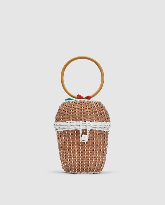 straw bag zara - The Straw Bag Trend