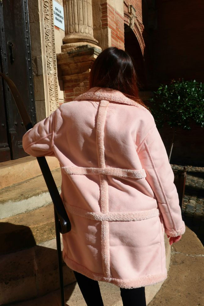 manteau rose onlybrightness #pinkcoat #manteaurose #onlybrightness