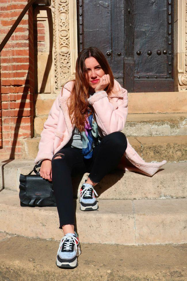manteau rose onlybrightness #pinkcoat #manteaurose