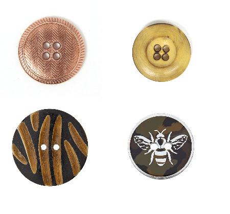 boutons originaux - 5 astuces pour rendre un look plus stylé