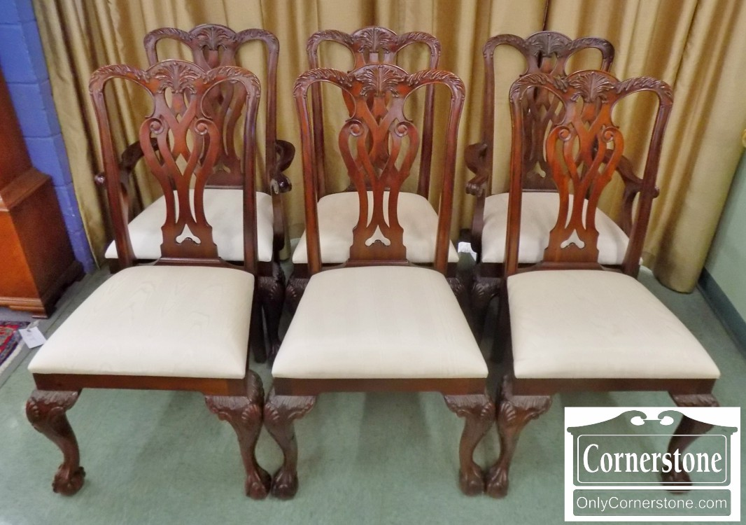 maitland smith dining chairs cleaning leather set of 6 solid mahogany chippendale ball claw foot