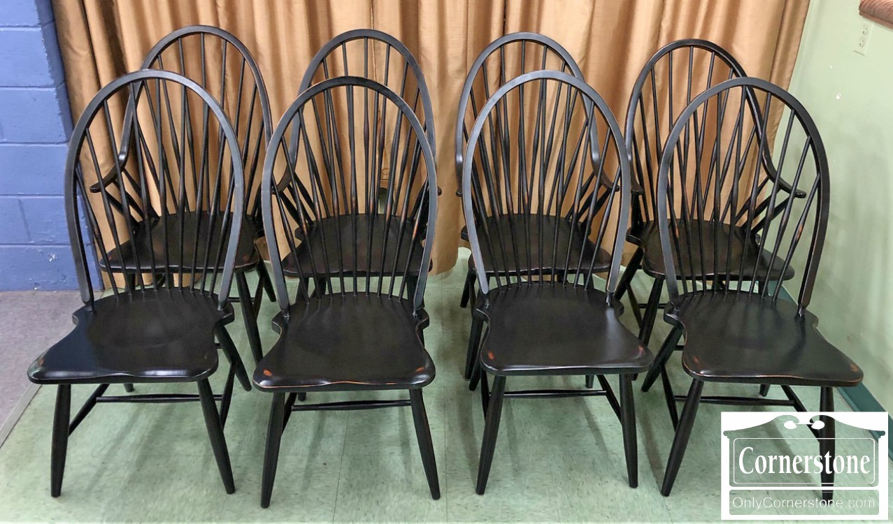 Windsor Chairs Black Set Of 8 Black Windsor Chairs Baltimore Maryland Furniture