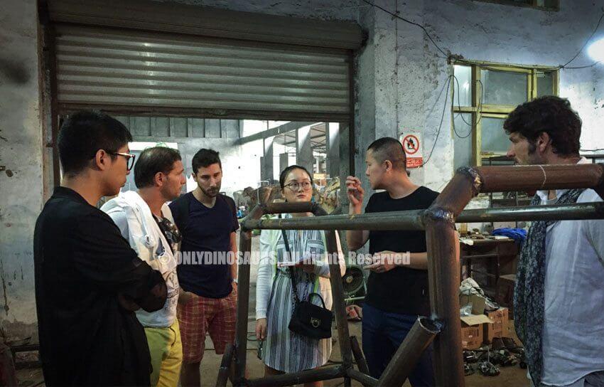 Clients Visit Animatronic Factory
