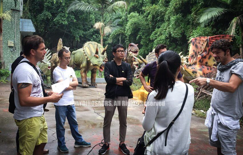Italy Client Visit for Animatronic Dinosaurs