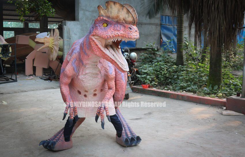 Pink Purple Dilophosaurus Costume