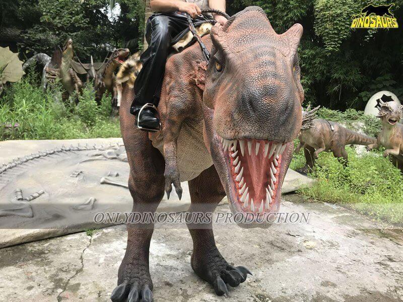 Realistic Riding T Rex Costume 3