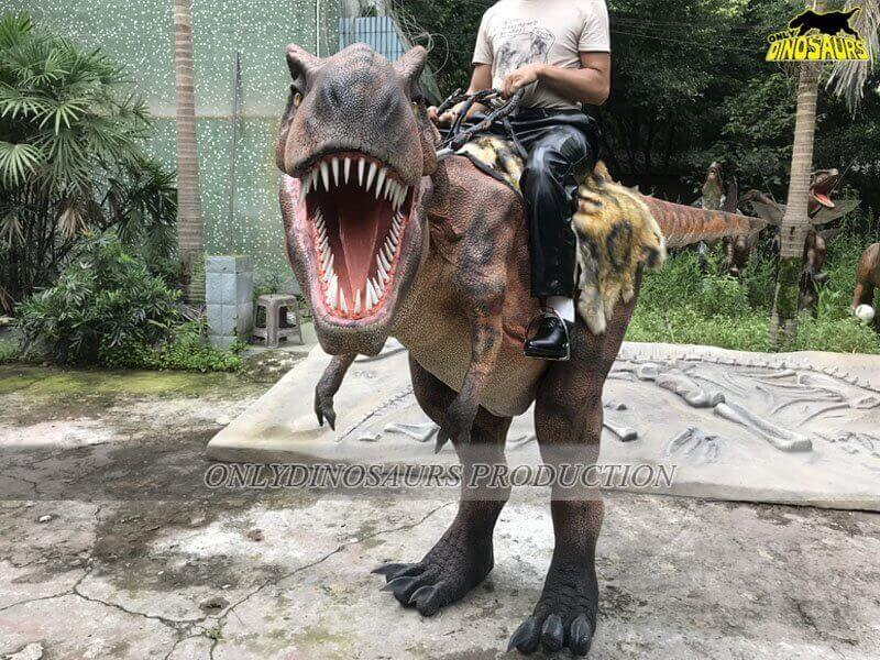 Realistic Riding T Rex Costume Size 2