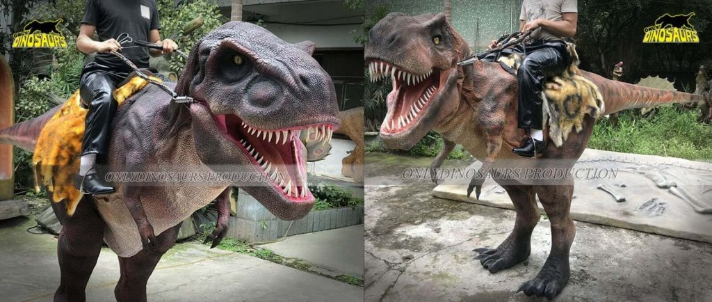 Realistic Riding T Rex Dinosaur Costume for adult Banner