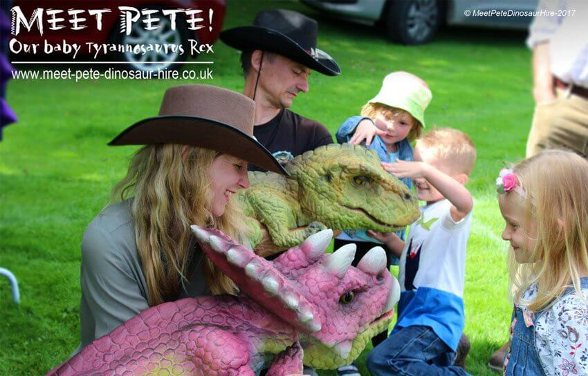 Realistic Triceratops Baby Puppet