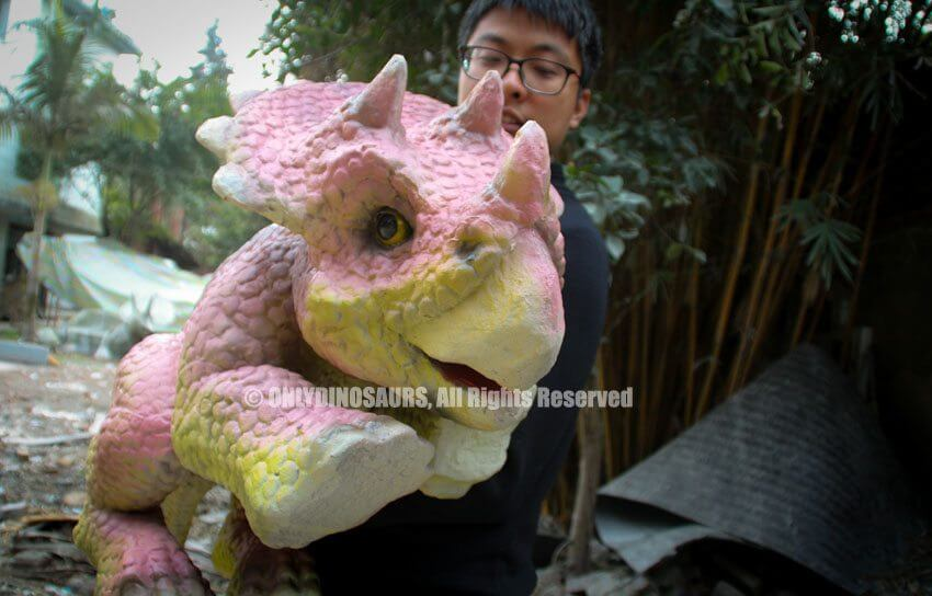 Realistic Triceratops Puppet