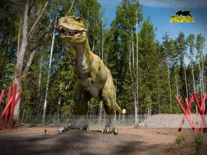 Allosaurus in dinosaur theme exhibition