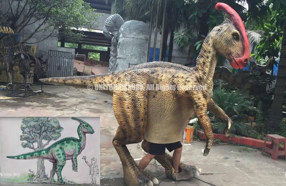 Custom Parasaurolophus Costume