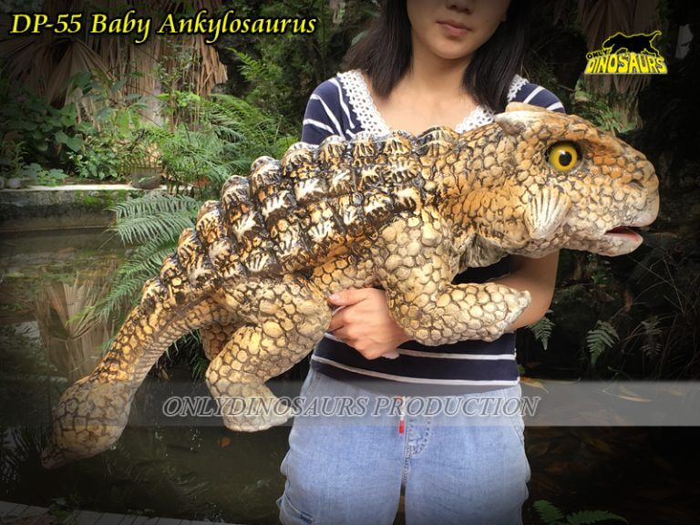 DP 55 Realistic Cute Baby Ankylosaurus Hand Puppet 768x576 1
