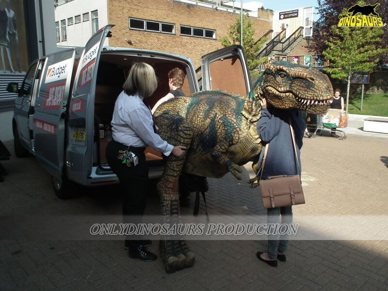 Dinosaur Suit Stored in MPV 1