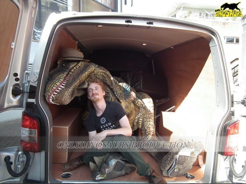 Dinosaur Suit Stored in MPV 2
