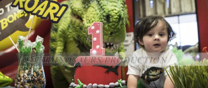 Realistic Dinosaur Costume in Birthday Party 800x339 2