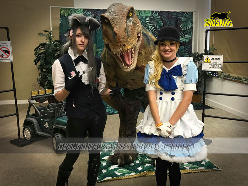 Realistic T Rex Suit in Cosplay