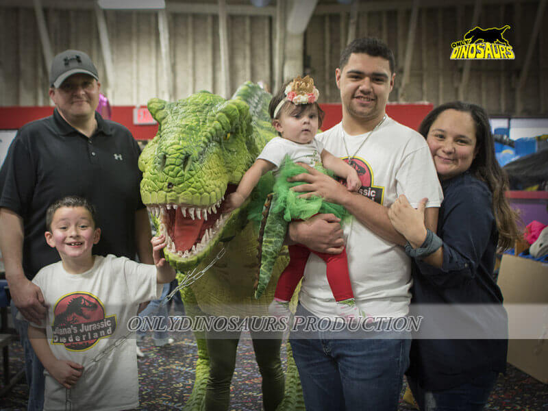 T Rex Costume Attend Birthday Party 1