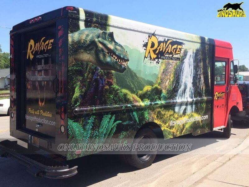Trailer Truck for Dinosaur Suit 1