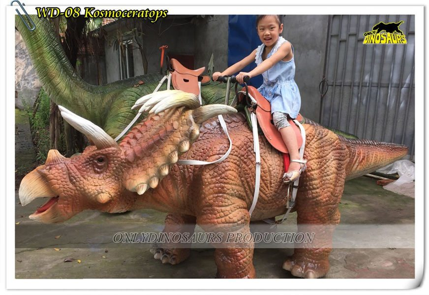 Animatronic Walking KosmoceratopsDinosaur Ride WD 08