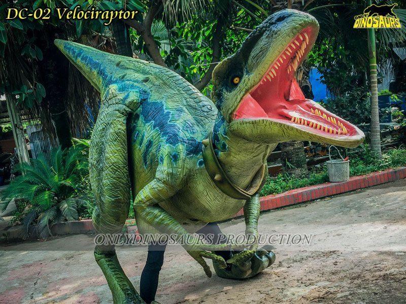 DC 02 Realistic Dinosaur Velociraptor Costume