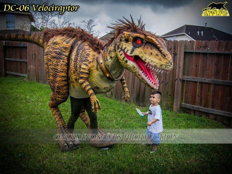 DC 06 Realistic Dinosaur Velociraptor Costume