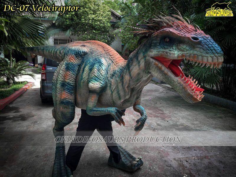 DC 07 Realistic Dinosaur Raptor Costume