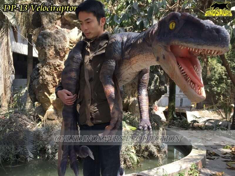 DP 13 Realistic Velociraptor Dinosaur Puppet