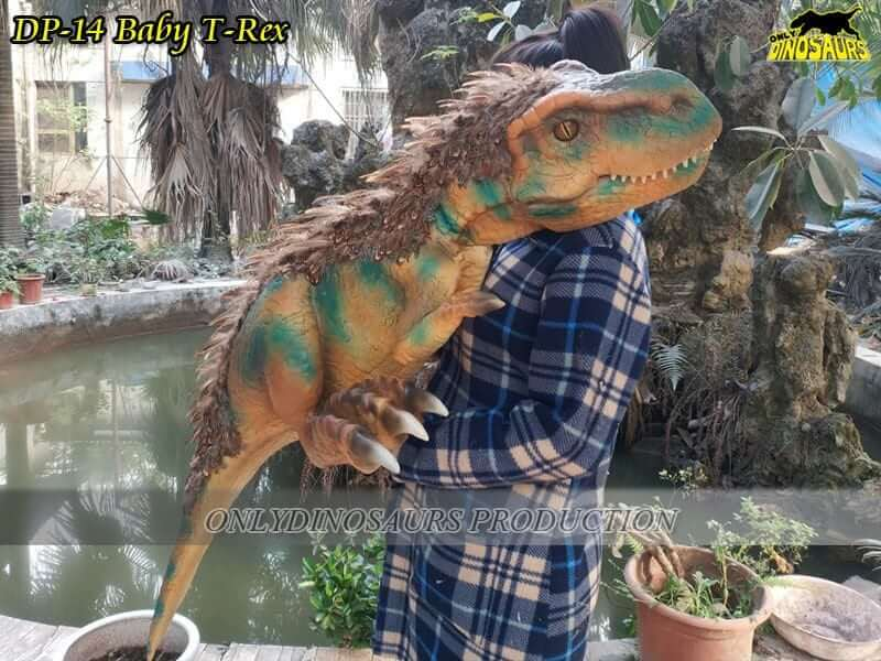 DP 14 Baby Trex Dinosaur puppet 1