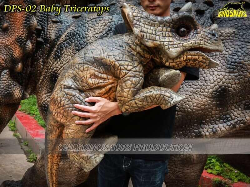 DPS 02 Baby Dinosaur Triceratops Puppet
