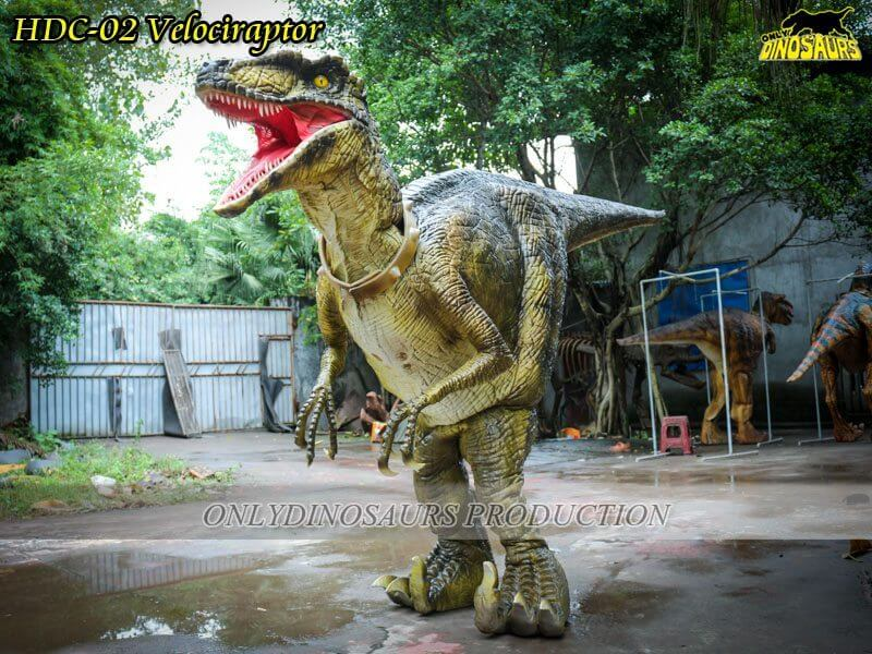HDC 02 Hidden Legs Velociraptor Costume