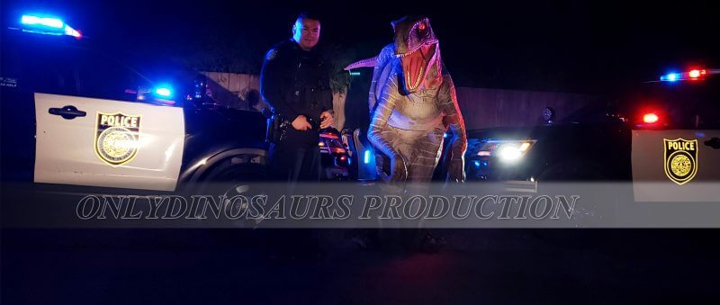 Raptor Costume with Police Officer 800x339 1