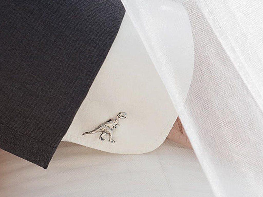 12-Useful-Wedding-Tips-On-How-To-Plan-A-Dinosaur-Wedding-dinosaur-cufflinks