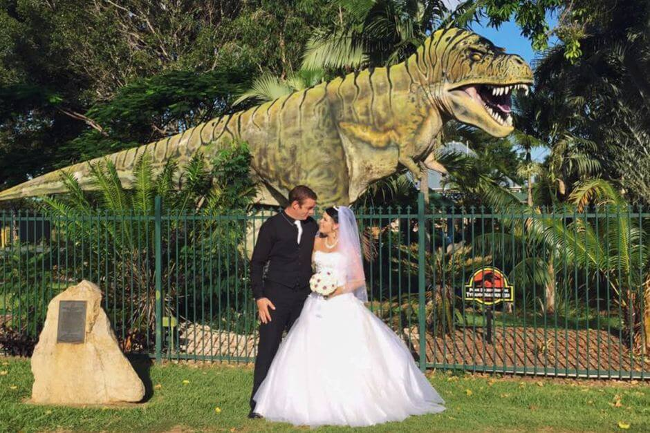 Animatronic Dinosaur Wedding