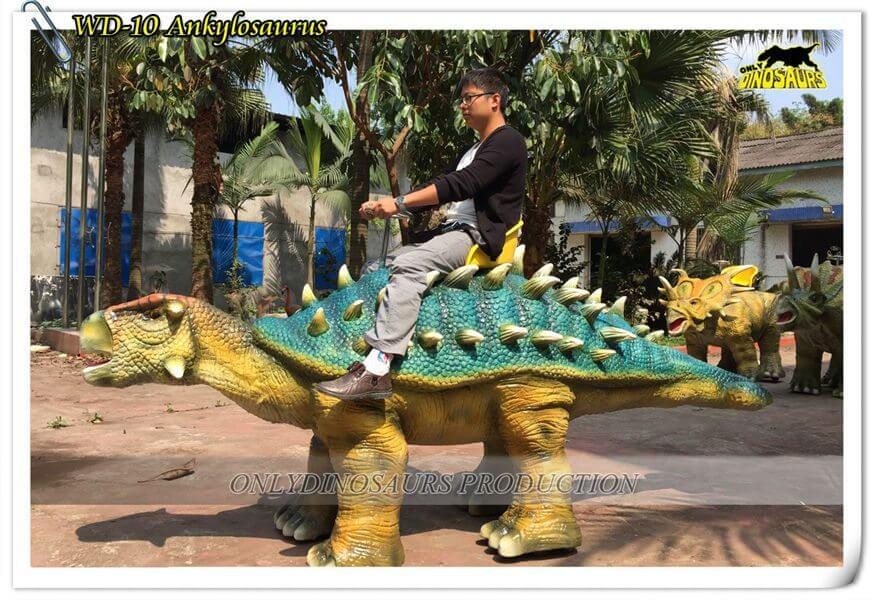 Animatronic Walking Ankylosaurus Dinosaur Ride WD 10