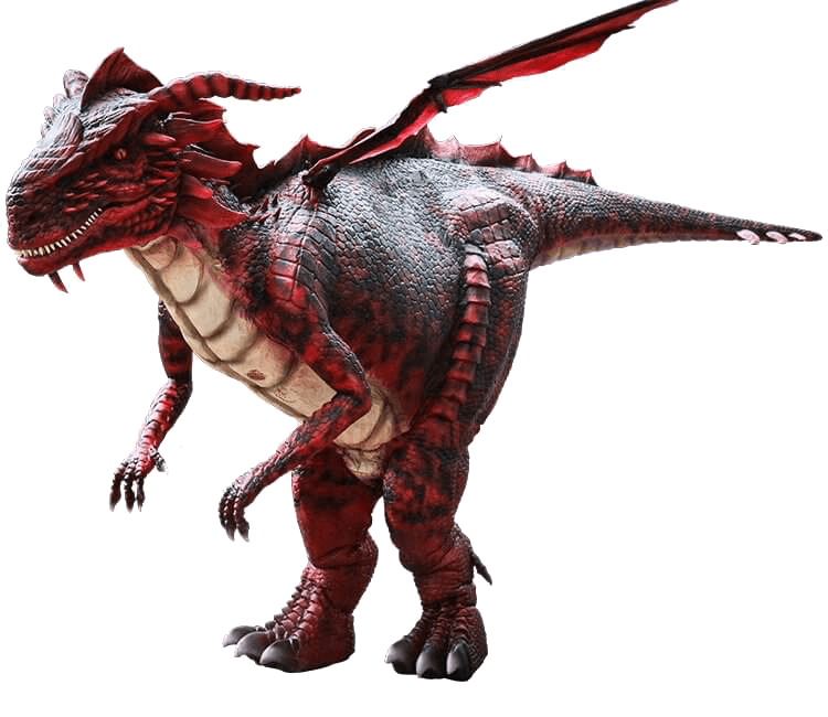 Dragon Costume Red Color