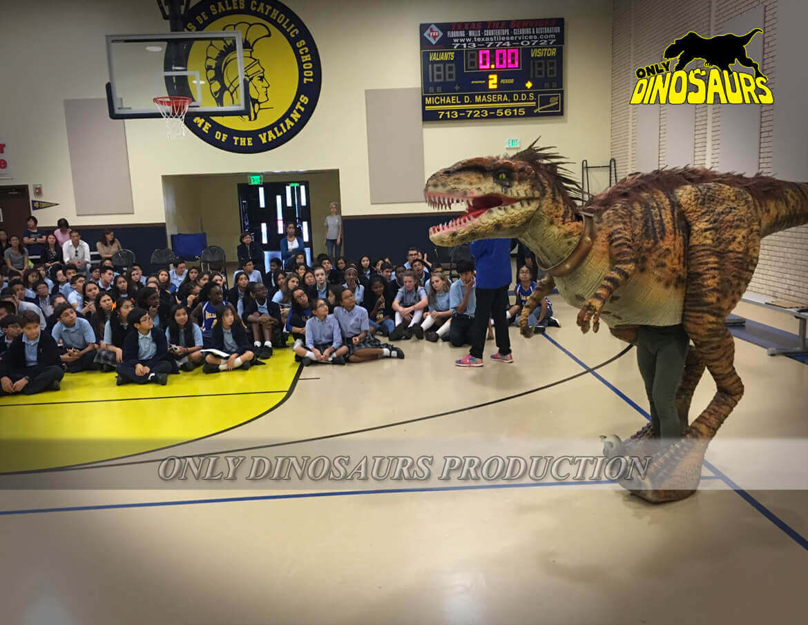 Velociraptor-Costume-in-School