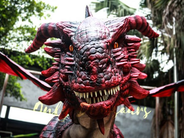 Amazing-Adult-Dragon-Costume-Black-Red-Color1-3