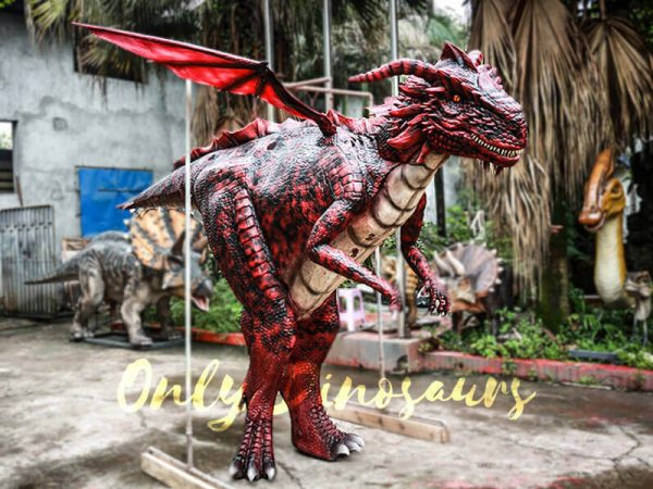 Amazing Adult Dragon Costume Black Red Color3 2