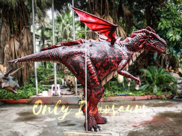 Amazing Adult Dragon Costume Black Red Color4 2