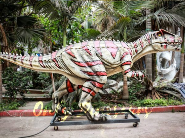 Animatronic Allosaurus dinosaur for Theme Park White & Red1