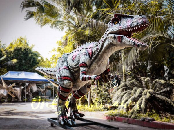Animatronic Allosaurus dinosaur for Theme Park White & Red2