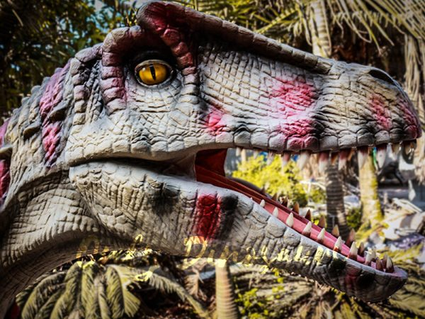 Animatronic Allosaurus dinosaur for Theme Park White & Red3