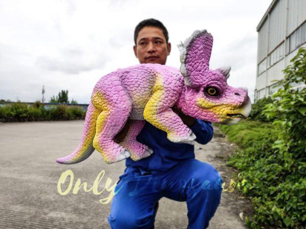 Artificial Dinosaur Pink Puppet Dinosaur Park2 1