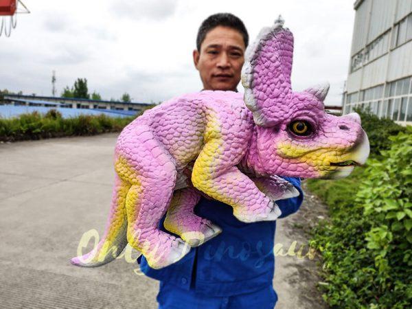 Artificial Dinosaur Pink Puppet Dinosaur Park5 1